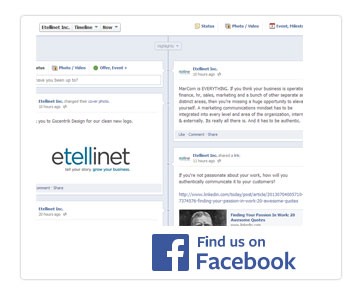 marketing inspiration and stories on facebook by Etellinet Inc